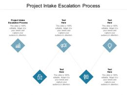 Project Intake Escalation Process Ppt Powerpoint Presentation Professional Elements Cpb