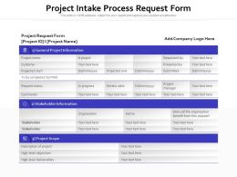 Project Intake Process Request Form