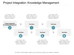 Project Integration Knowledge Management Ppt Powerpoint Presentation Ideas Cpb