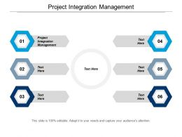 Project Integration Management Ppt Powerpoint Presentation Gallery Example Cpb