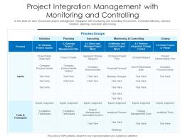 Project Integration Management With Monitoring And Controlling