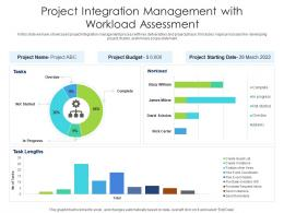 Project Integration Management With Workload Assessment
