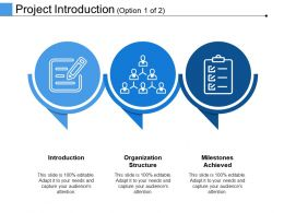 Project Introduction Ppt Infographic Template Information
