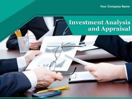 Project Investment Analysis And Appraisal Powerpoint Presentation Slides