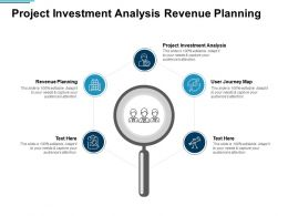 Project Investment Analysis Revenue Planning User Journey Map Cpb
