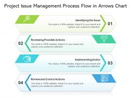 Project Issue Management Process Flow In Arrows Chart