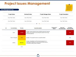 Project Issues Management Powerpoint Slide Templates Download