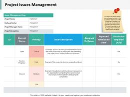 Project Issues Management Ppt Inspiration Example