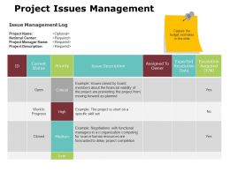 project_issues_management_ppt_powerpoint_presentation_gallery_brochure_Slide01