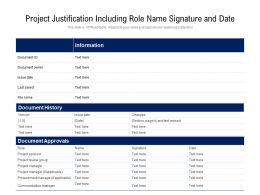 Project Justification Including Role Name Signature And Date