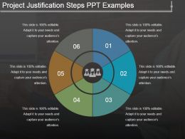 Project Justification Steps Ppt Examples
