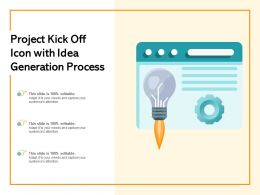 Project Kick Off Icon With Idea Generation Process