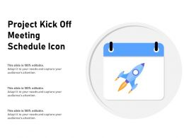 Project Kick Off Meeting Schedule Icon