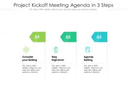 Project Kickoff Meeting Agenda In 3 Steps