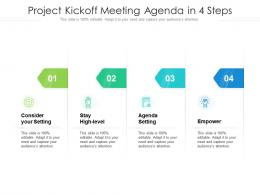Project Kickoff Meeting Agenda In 4 Steps