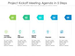 Project Kickoff Meeting Agenda In 5 Steps