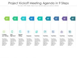 Project Kickoff Meeting Agenda In 9 Steps
