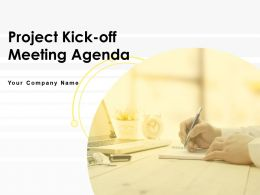 Project Kickoff Meeting Agenda Powerpoint Presentation Slides