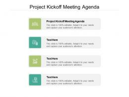 Project Kickoff Meeting Agenda Ppt Powerpoint Presentation Ideas Graphics Cpb