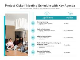 Project Kickoff Meeting Schedule With Key Agenda