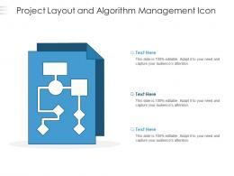 Project Layout And Algorithm Management Icon