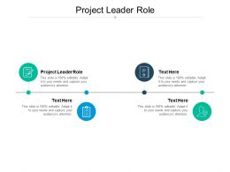 Project Leader Role Ppt Powerpoint Presentation Portfolio Graphic Tips Cpb