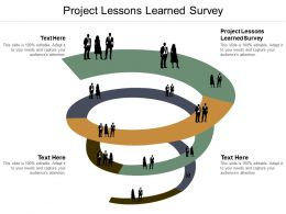 Project Lessons Learned Survey Ppt Powerpoint Presentation Ideas Designs Download Cpb