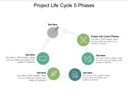 Project Life Cycle 5 Phases Ppt Powerpoint Presentation Professional Guide Cpb