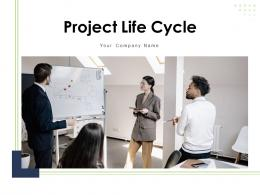 Project Life Cycle Circular Arrow Gear Icon Assess Team