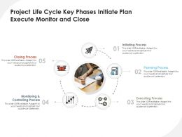 Project Life Cycle Key Phases Initiate Plan Execute Monitor And Close