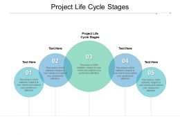 Project Life Cycle Stages Ppt Powerpoint Presentation Slides Graphics Cpb