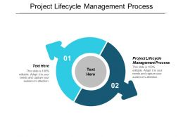 Project Lifecycle Management Process Ppt Powerpoint Presentation Show Demonstration Cpb