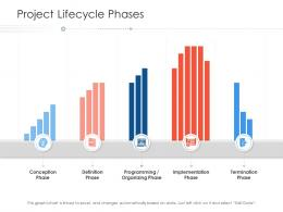 Project Lifecycle Phases Organizing Project Strategy Process Scope And Schedule Ppt Grid