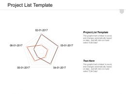 Project List Template Ppt Powerpoint Presentation Layouts Brochure Cpb