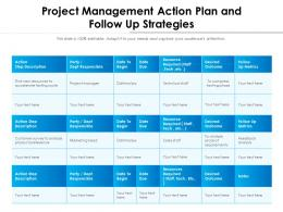 Project Management Action Plan And Follow Up Strategies