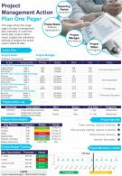 Project Management Action Plan One Pager Presentation Report Infographic PPT PDF Document