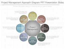 Project Management Approach Diagram Ppt Presentation Slides