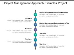 project management approach examples project management communications plan cpb