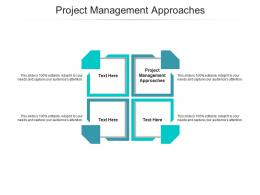 Project Management Approaches Ppt Powerpoint Presentation Gallery Diagrams Cpb