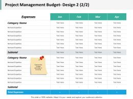 Project Management Budget Design 2 2 2 Ppt Inspiration Icon