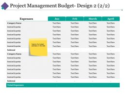 Project Management Budget Design 3 Ppt Slides Graphic Tips