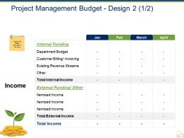 Project Management Budget Design Powerpoint Slide Templates