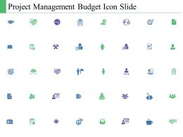 Project Management Budget Icon Slide C347 Ppt Powerpoint Presentation File Influencers