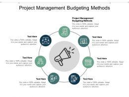 Project Management Budgeting Methods Ppt Powerpoint Presentation Model Pictures Cpb