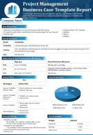 Project Management Business Case Template Report Presentation PPT PDF Document