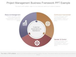 Project Management Business Framework Ppt Example