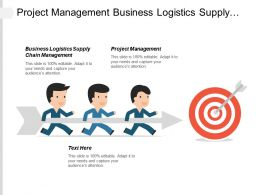 Project Management Business Logistics Supply Chain Management Promotions Strategy Cpb