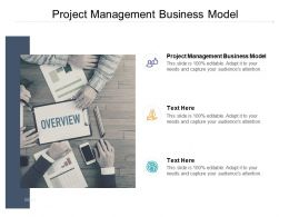 Project Management Business Model Ppt Powerpoint Presentation Layouts Cpb