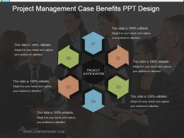 Project Management Case Benefits Ppt Design