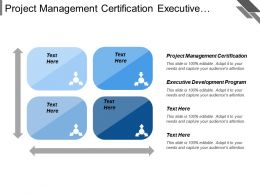 Project Management Certification Executive Development Program Business Foundation